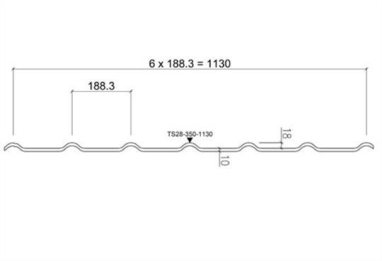 Металлочерепица Ruukki Decorrey размер